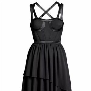 Versace for H&M Bustier Black Layered Dress 2 32